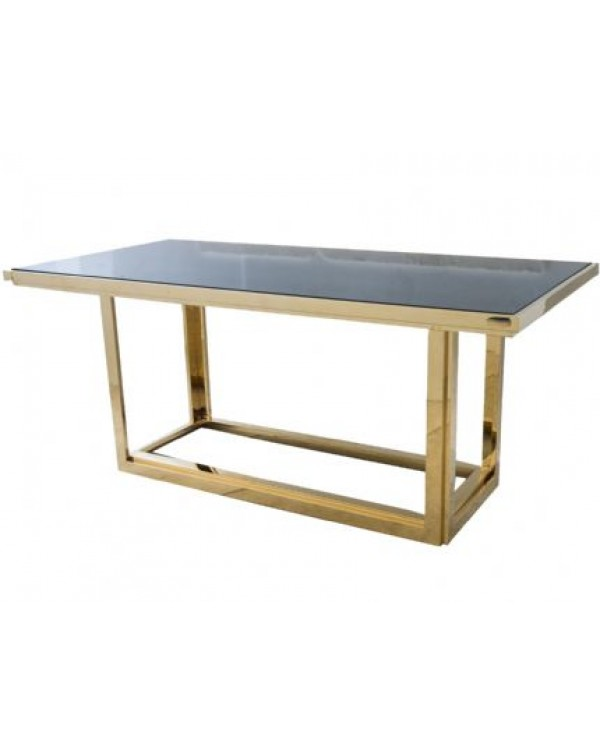 Gatsby Rectangular Gold Dining Table